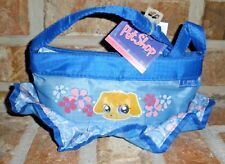 Littlest Pet Shop ruffle BLUE DOG youth Purse, carry bag, case RARE 2008