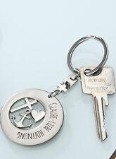 Schlüsselanhänger Metall Glaube Liebe Hoffnung in schwarzer Geschenkbox