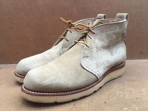Chippewa Rough And Tough Brown Suede Chukka Boots MADE IN USA Size USA 8 EE || 7
