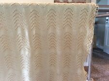 Vintage Hand Crocheted Afghan Blanket Throw Clean & Well Made Baby Lap Blanket 1