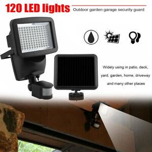 Solar Light PIR Motion Sensor 120 LED Bright Flood Lights Outdoor Security Lamp