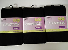 3 Curvation Textured Tights BLACK DIAMOND PATTERN ,LOT OF 3 PAIR,,CURVACEOUS 3