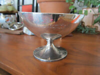Sterling Silver baptism Cup Bowl Footed chalice - antique BAILEY BANKS BIDDLE CO