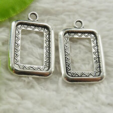 100 pieces tibet silver oblong frame charms 27x18mm #4655 free ship