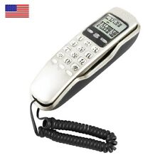 White Corded Telephone Landline Tabletop LCD Wired Phone Home Hotel Office - USA