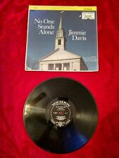 "Jimmie Davis no one stands 12"" 33 RPM LP Vinyl Record VG#13"