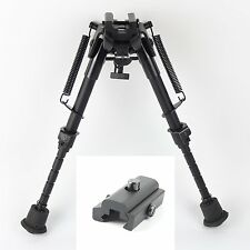 "6""- 9"" Harris Style Bipod Adjustable Length with Picatinny Weaver Rail Adapter"