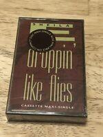 SHEILA E - DROPPIN' LIKE FLIES Sealed Cassette MAXI SINGLE RARE OOP Tape NEW