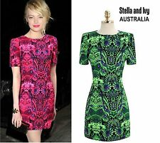 womens vibrant green cocktail party shift dress size 8 au new