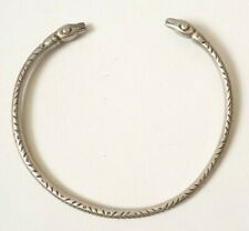 Collier torque ARGENT massif style antique celte serpent silver snake necklace