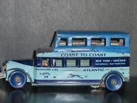 1920's US Made Marx Coast To Coast Tin Wind Up Greyhound Bus Works, No Reserve..