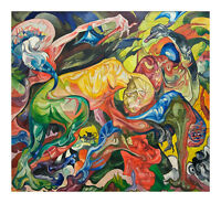 Fight by Stanisław Ignacy Witkiewicz, Surrealism, Art Print
