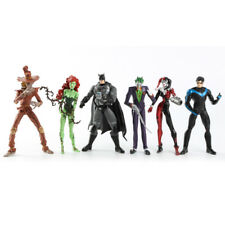 6pcs DC Batman Joker Poison lvy Harley Quinn Scarecrow Robin Action Figures