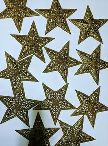 Lot of 12 pieces 10.5 inches Glittered Star Ornaments by Pier one