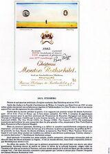 PAUILLAC 1E GCC LITHOGRAPHIE CHATEAU MOUTON ROTHSCHILD 1983  §06/03/17§