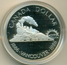 1986 CANADA VANCOUVER PROOF DOLLAR, WITH CASE, GREAT PRICE!
