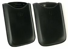 Genuine Leather Pocket Pouch Cases For Blackberry 9720 Q10 Q5 + Screen Protector