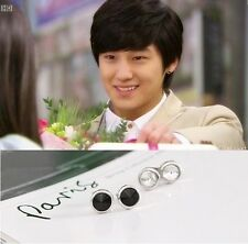 Kim Bum Boys Over Flowers Black Round Earrings Free Shipping