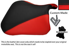 RED & BLACK CUSTOM 04-05 FITS SUZUKI GSXR 600 750 K4 K5 FRONT LEATHER SEAT COVER