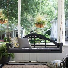 Black Eucalyptus Arched Back 2 Seat Hanging Porch Swing Outdoor Furniture Patio
