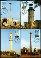 1998 Lighthouses,Leuchtturme,P hare,Faro,Faruri,Romania,M i.5373=4 Fdc Maxi cards
