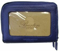New Buxton Womens Mini Leather Credit Card ID Wizard Wallet Purse Purple