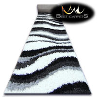 Modern Hall Runners soft SHAGGY LONG Carpet White Width 80-200cm extra long RUGS
