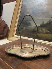 ancienne monture de serviteur a condiments en metal argenté