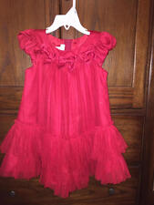 BONNIE BABY 24 Month Red Fancy Party Dress with Bows - Valentines