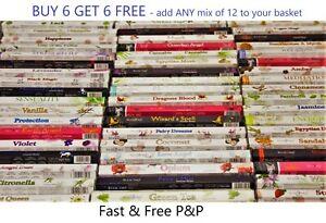 Incense Sticks Burning Stamford Insence Joss - Insense Buy 6 get 6 FREE Hex