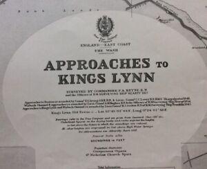ADMIRALTY  SEA  CHART. KINGS LYNN APPROACHES & DOCKS. No.1177. 1920-35