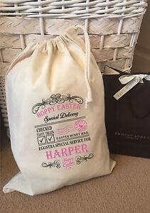 Personalised Hoppy Easter Gift Bag -  Harper Design Various Sizes Available
