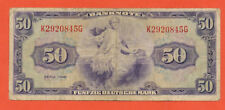 BRD 50 Mark 1948  Erhaltung  3-  /  VF- Banknote  Ro. 242 WBZ - 7 /  P7a ( 426