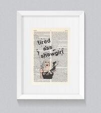 RuPaul Sharon Needles Tired @ss Showgirl Vintage Dictionary Book Print Wall Art