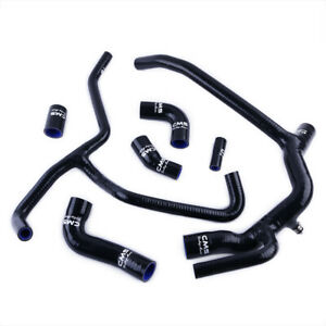 Black Silicone Radiator Water Hose Kit for 1998-2004 Land Rover Discovery 2 TD5