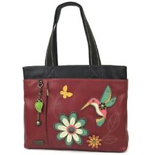 Chala Purse Handbag Everyday Big Tote Humming Bird Faux Leather Many Pockets