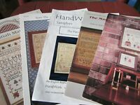 CS168, 5 assorted historic cross stitch samplers, patterns, OOP, YOUR CHOICE,