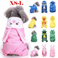 Pet Clothes Small Medium Large Dog Cat Raincoat Waterproof Rainwear Pet Supplies