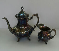 Vintage Towle Silverplated Large Teapot & Creamer
