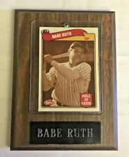 Babe Ruth Hall of Fame Swell mounted card