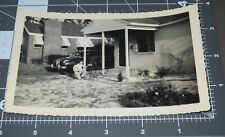 Man Spraying Insect Killer Insecticide Pest Unusual Pose Vintage Snapshot PHOTO