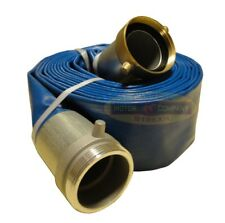 """3"""" inch water pump hose discharge NPT threaded New 25' ft feet foot lay flat"""