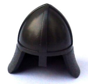 Lego 10 Stück Ritterhelm perl dunkelgrau mit Nackenschutz 3844 Ritter Helm Neu