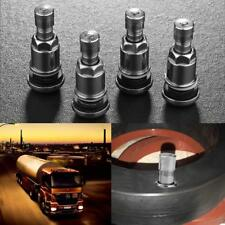 4pcs Bolt-in Stainless Car Motorcycle Wheel Tyre Tire Valve Stems with Dust Caps