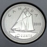 2010 Canada Nickel Specimen 10 Ten Cents Dime Canadian Uncirculated Coin E178