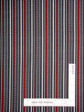 Christmas Dotted Stripe Dark Grey Red Fabric Benartex Let It Snow By The Yard