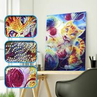 Cat 5D Special Shaped DIY Diamond Painting Embroidery Cross Stitch Craft Decor