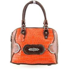 Madi Claire Makenzie Women Orange Satchel