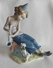 LLADRO Clown With Saxophone and Dog #5059 - Payasito Saxofon