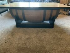 Whiskey Barrel Sliding Top Coffee Table